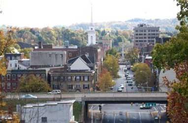 Skyline of Easton, Lehigh Valley, PA